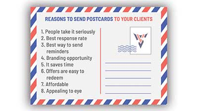 8 reasons to send postcards to the clients of your veterinary clinic